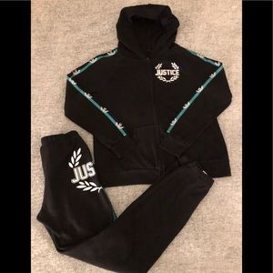 Justice Matching Sets - [Justice] Hoodie & Jogger Set